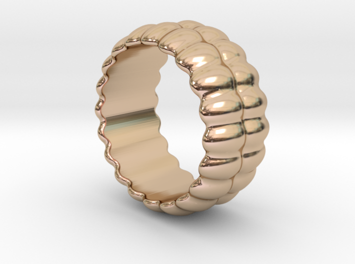 Mirror Ring 29 - Italian Size 29 3d printed