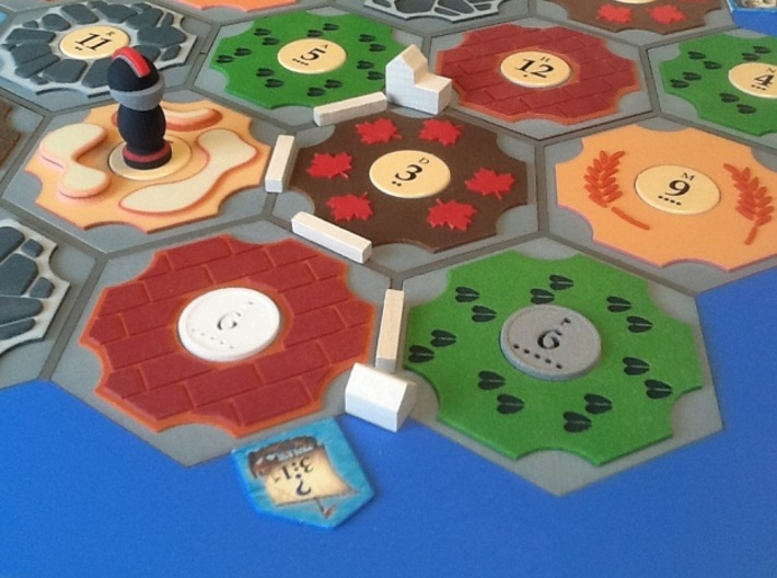 Catan Hex Tile Stone 79mm 3d printed Ore rocks! Ore is it stone?