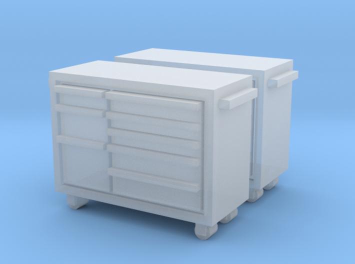 N Scale Snap-on Toolbox 2pc 3d printed