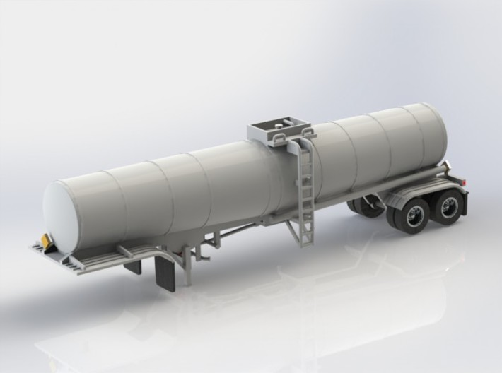 N scale 1/160 Crude Oil trailer, Brenner 210 3d printed A CAD render of the Brenner 210.