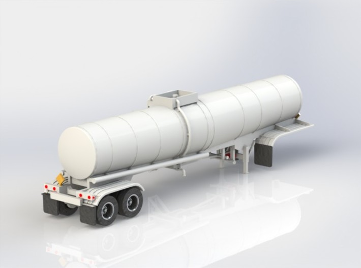 N scale 1/160 Crude Oil trailer, Brenner 210 3d printed A CAD render of the opposite side.