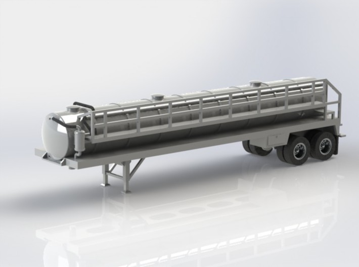 N scale 1/160 Crude oil trailer, Troxell 130 3d printed I've made some small changes to the front pipework after finding some better photos of the protoype.
