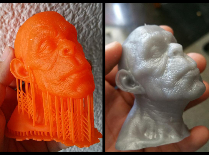 Apeman 3d printed left:Moonray right:Form 1+