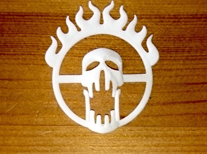 Mad Max Fury Road inspired pendant 3d printed