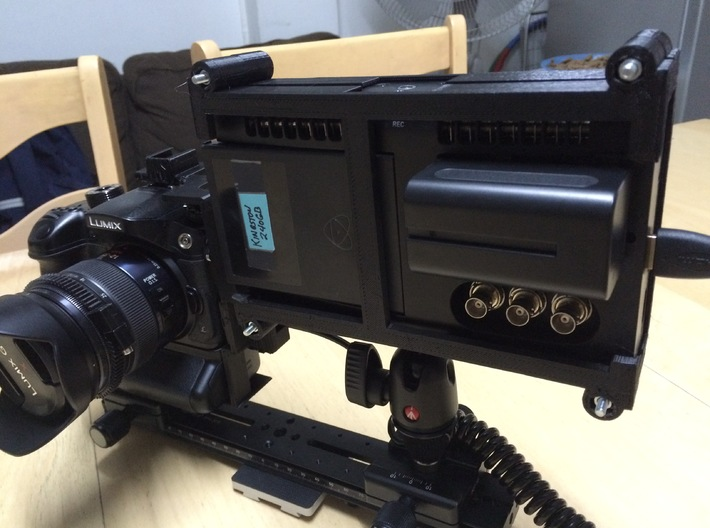 Shogun Cage Part 2 of 2 3d printed Atomos Shogun Cage and  GH4 with HDMI Saver