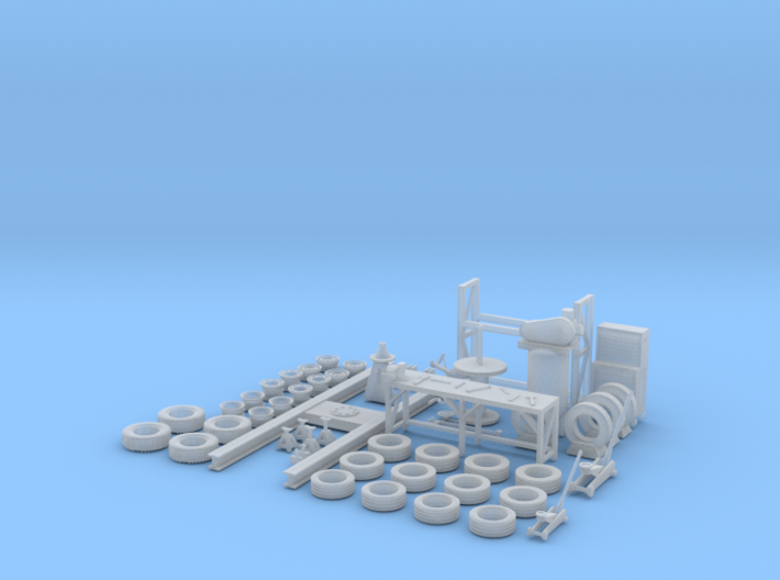 Vintage Tire Shop Stuff With Usable Lift 3d printed