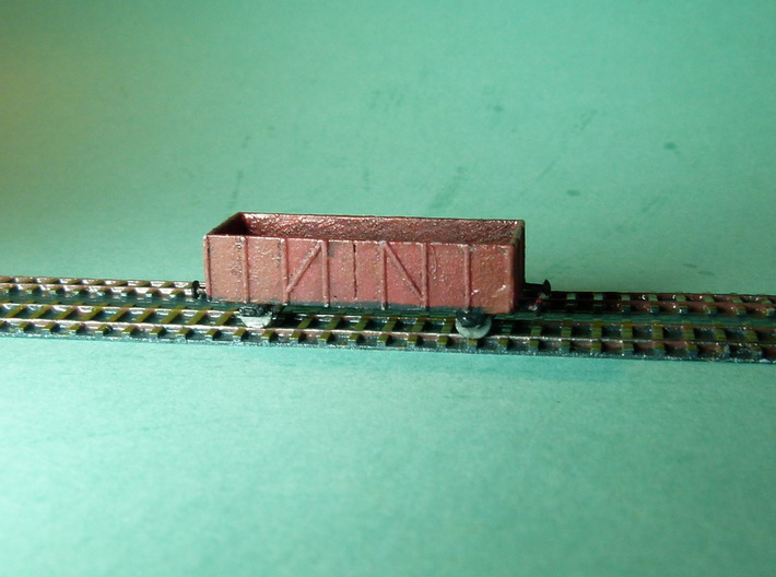 Gondola / Hochbordwagen Set of 4 1/285 6mm 3d printed