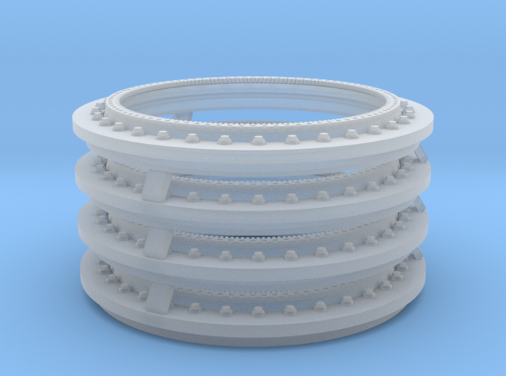 1/35 SPM-35-023B turret ring for MRAP, x4 in set 3d printed