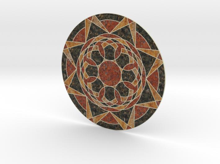 Sandstone Medallion 3d printed
