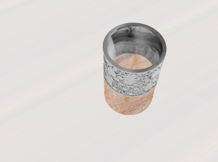 Gear Themed Band Ring: Size 9 3d printed