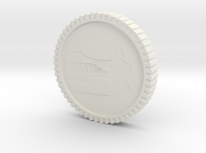 The walking dead coin 3d printed