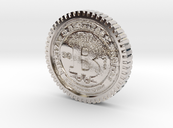 Bitcoin high detail 3d printed