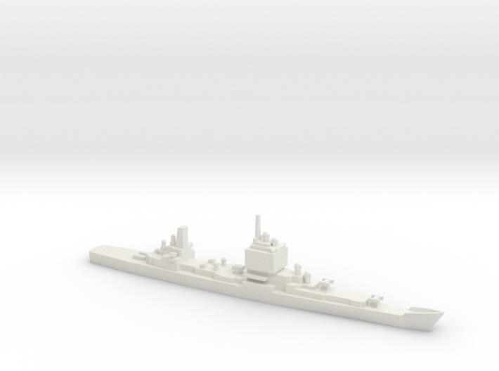 USS Long Beach, Final Layout, 1/1800 3d printed