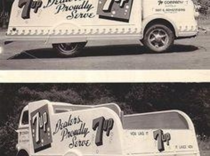 7-Up Truck w/1949 Chevy Cab Over 3d printed The prototype
