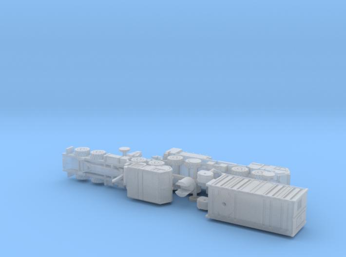 US HEMTT A3 Centurion & HEL 1/200  3d printed