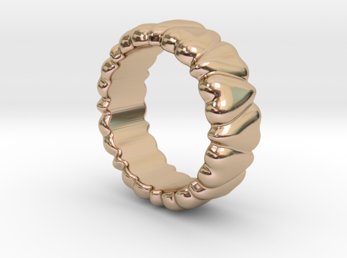 Ring Heart To Heart 31 - Italian Size 31 3d printed