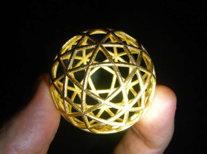 Star Cage Circles 45mm X 2mm 3d printed Its easier than you might think
