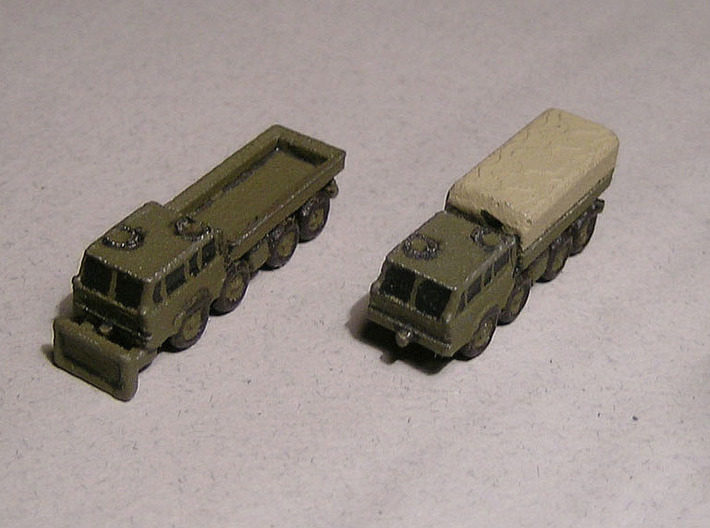 1/300 Tatra 813 Truck x 4 3d printed Models painted by Fred Oliver