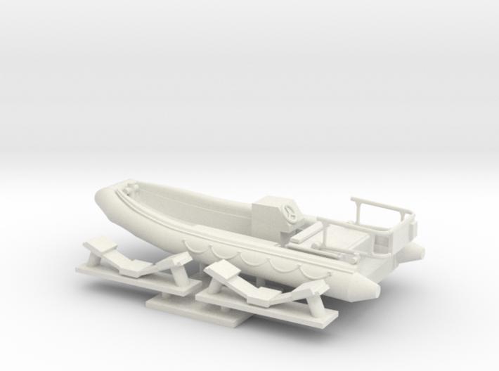 1/48 scale RHIB-16.73 feet Rescue Boat 3d printed