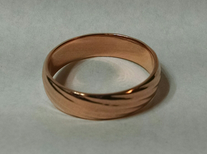 Spiral Ring size 12 3d printed