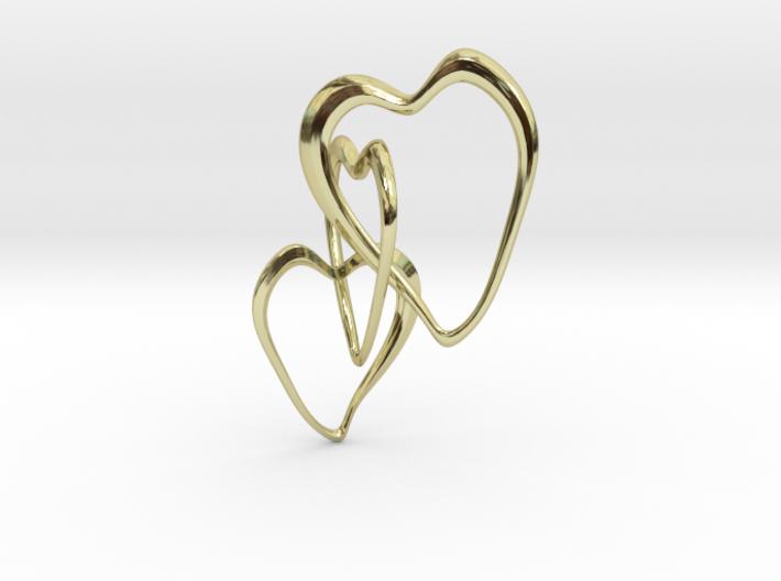 Trinity Hearts 3d printed