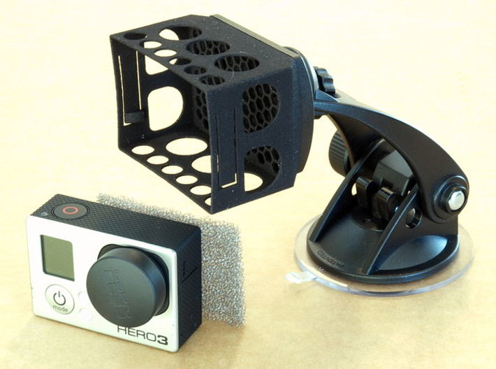 GoPro Hero3 HR-Mounts 3d printed