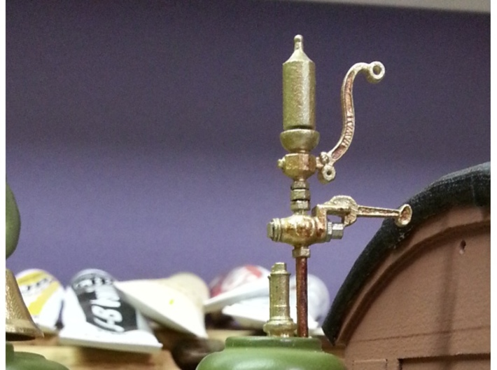1:20 scale whistle and pop valves 3d printed final coat paint