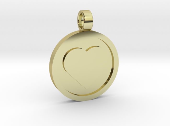 "Personalized Heart Pendant - Say ""I Love You"" 3d printed"