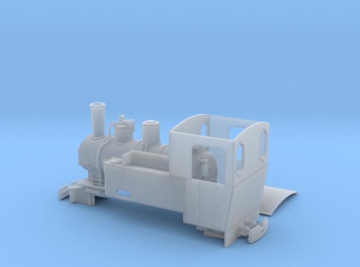 Feldbahn Dampflok Henschel C-Kuppler Spur 0e/f 3d printed
