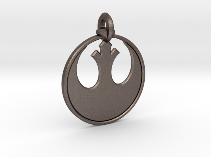 Rebel Keychain 3d printed