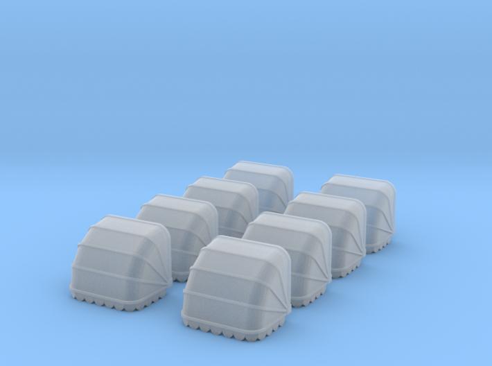 8x Korbmarkise 10 mm (N 1:160) 3d printed