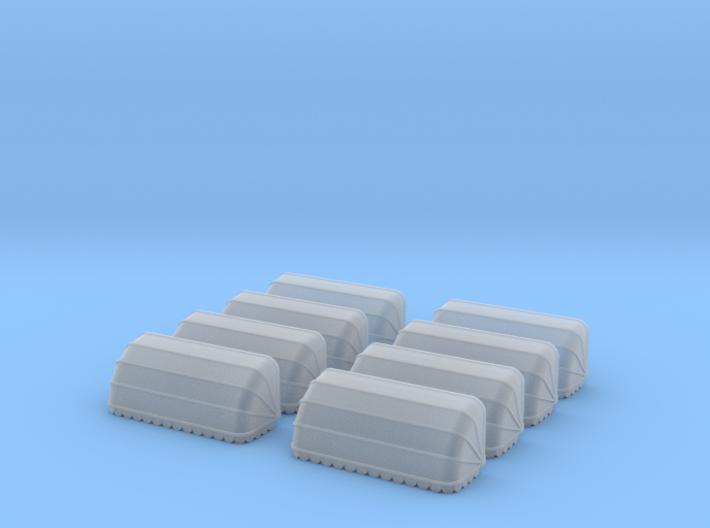 8x Korbmarkise 20 mm (N 1:160) 3d printed