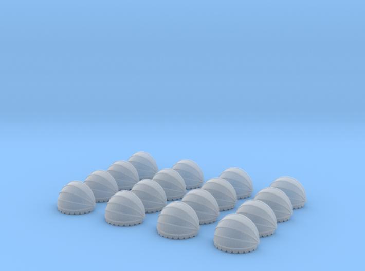 16x Korbmarkise rund 10 mm (N 1:160) 3d printed