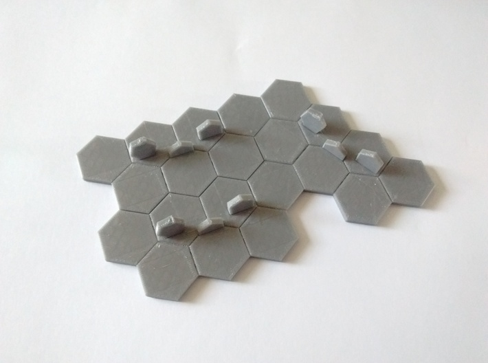 Hex-tile Card holder 3d printed Example of interlocking-ness