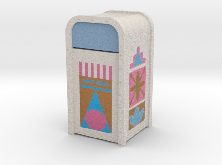Small World Trash Can 3d printed
