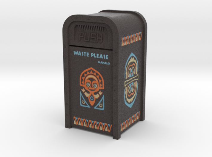 Polynesian Resort Trash Can 3d printed