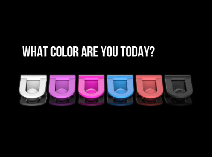 Headphone cable clip 3d printed What color are you today?