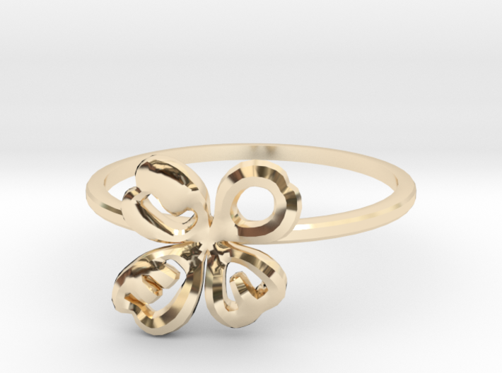 Clover Ring Size US 6 (16.5mm) 3d printed