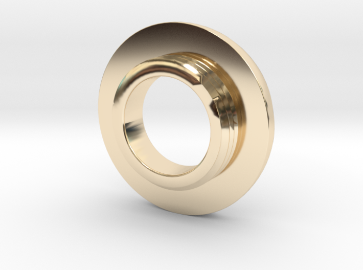 Ag Torch: Brass Tail Ring (4 of 4) 3d printed