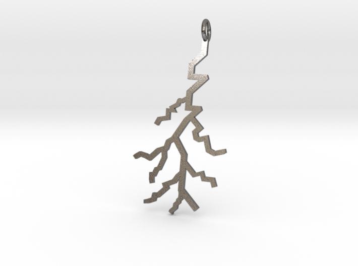 Lightning Pendant (Med) 3d printed