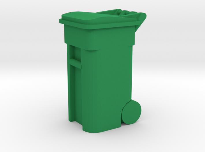 Trash Cart 64 gal - HO 87:1 Scale 3d printed