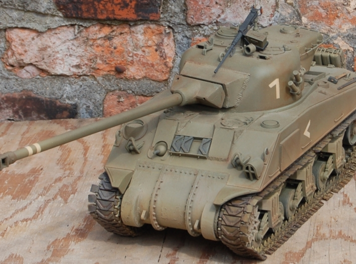 IDF 1/16 M50 Super Sherman Manlet 3d printed Photo shows the manlet on my M50