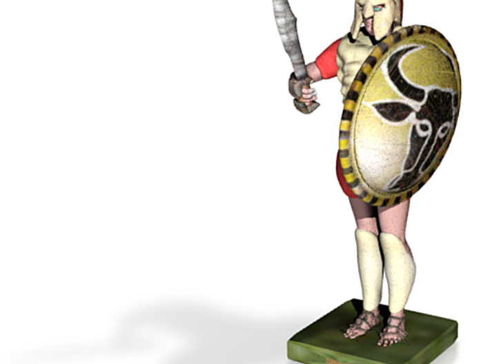 hoplite greek warrior already colored 3d printed