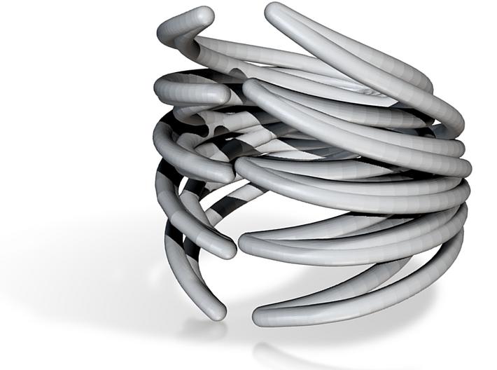 Rib Cage Ring 2 3d printed