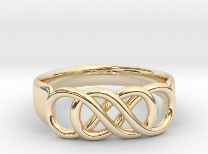 Double Infinity Ring 22.2mm V2 3d printed