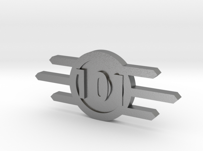 Fallout Vault-Tec badge With Vault Number 3d printed