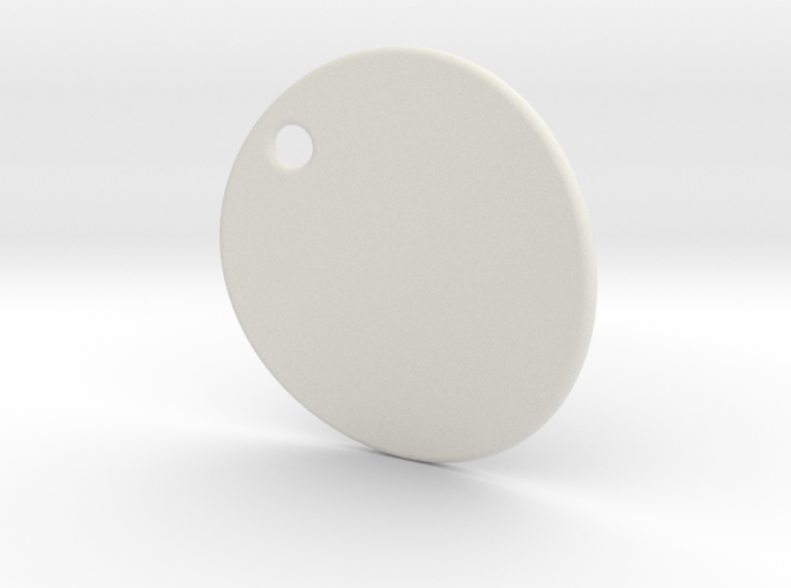Curved pendant - customization possible 3d printed