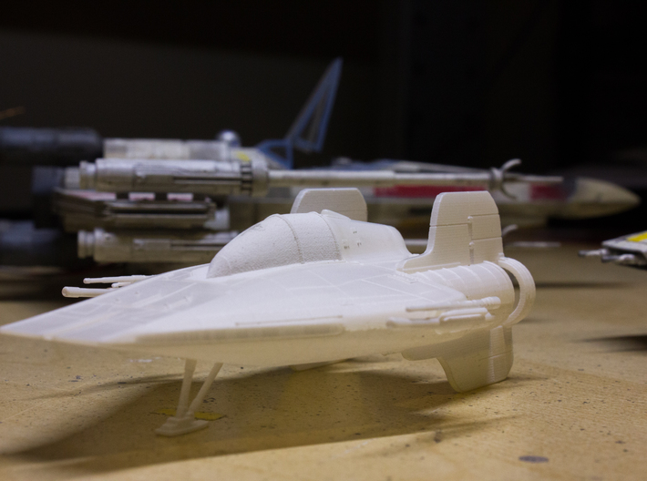 A-Wing 1/72 scale 3d printed After cleaning & alcohol soak