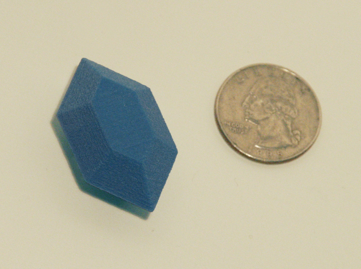 Zelda Fan Art: TLoZ: Blue Rupee 3d printed