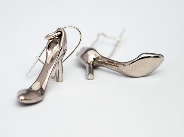Classic Heels Earrings No. 1 - Size 1 3d printed